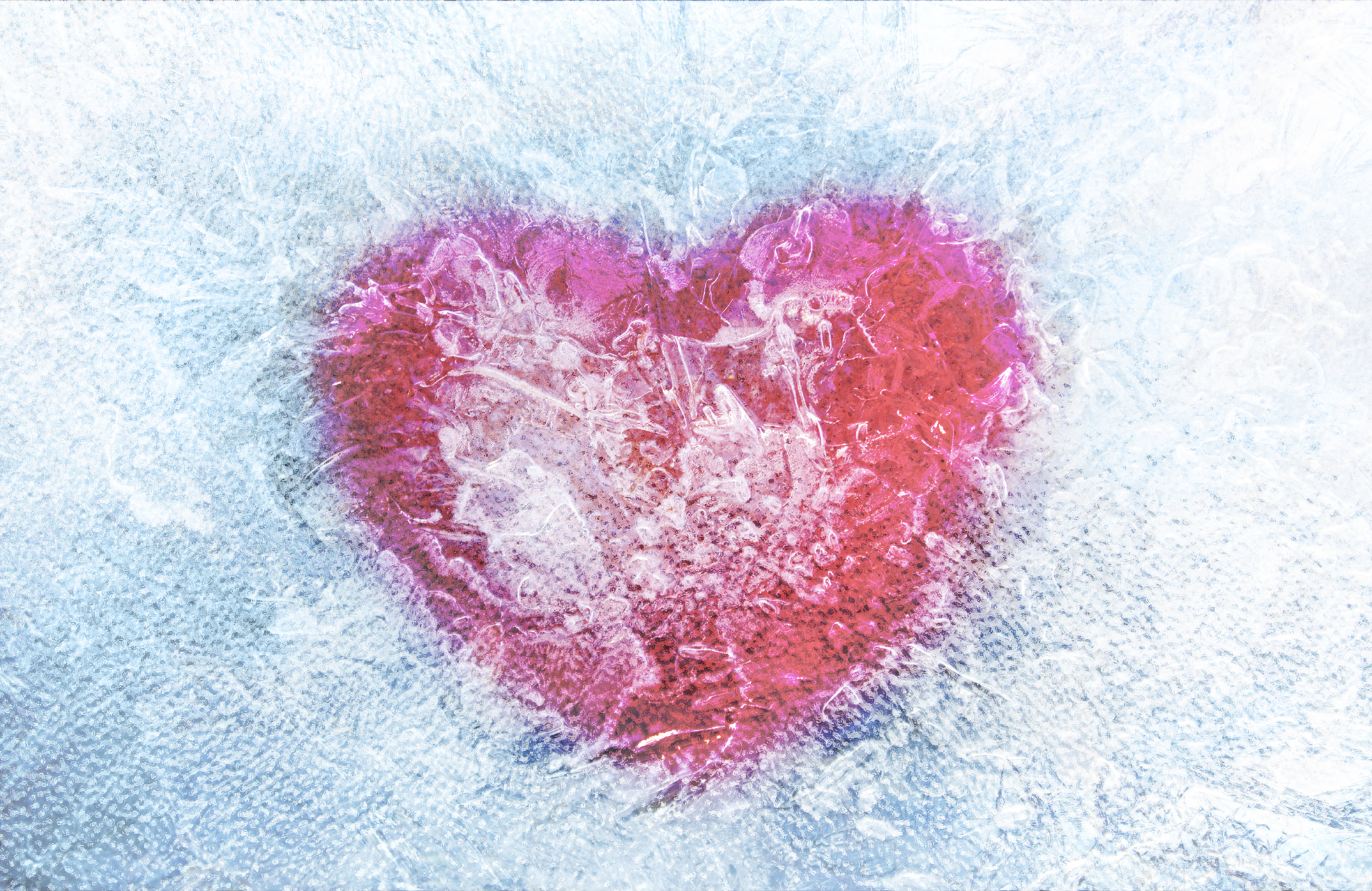 Frozen heart Illustration. Valentine's Day. Love concept